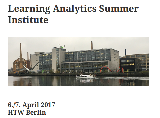 Learning Analytics Summer Institute